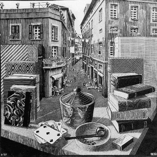 Escher - StillLifeandStreetScene